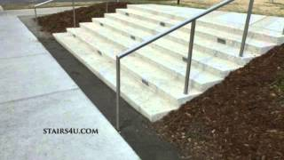 Avoid Separating Concrete Stairs And Walkway With Gravel - Design