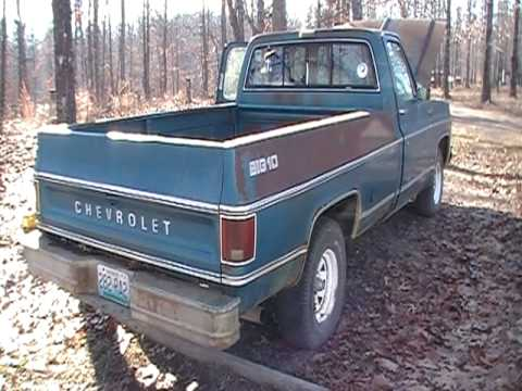 Old Blue Startup 1978 Chevy Truck Youtube
