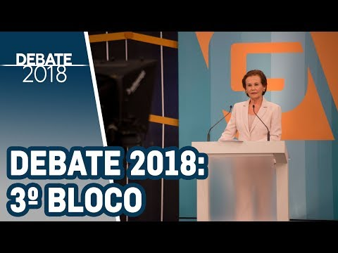 Debate 2018 | TV Gazeta - Governador de SP - 1º Turno (3º bloco)