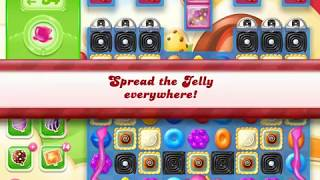 Candy Crush Jelly Saga Level 1410 (3 stars, No boosters)