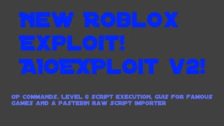 ¡Nuevo! ROBLOX EXPLOIT AIOExploit V2! NIVEL 6 LUA COMPLETO! All In One Exploit