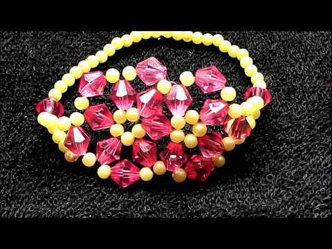 Flower Elastic Bracelet - Fine Jewelry  (Tutorial)