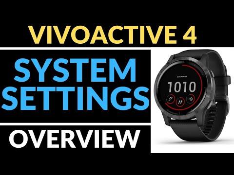 System Settings Overview - Garmin Vivoactive 4 Tutorial