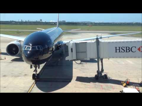 Brisbane International Airport Departure Air NZ B777