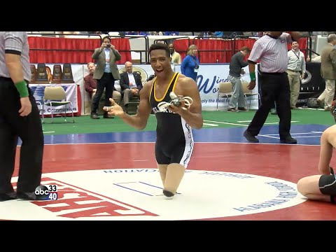 Pelham High double amputee wrestler Hasaan Hawthorne wins state title