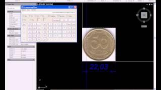 Как замерять размеры рисунка на монетах с помощью AutoCAD 2013