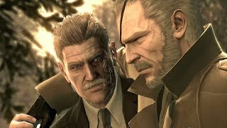 Metal Gear Solid 4 - Snake Meets Big Boss (Final Scene of Franchise)