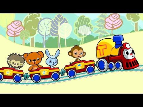 МУЛЬТфильмы для детей - Трейни 2 - Песенка про паровозик