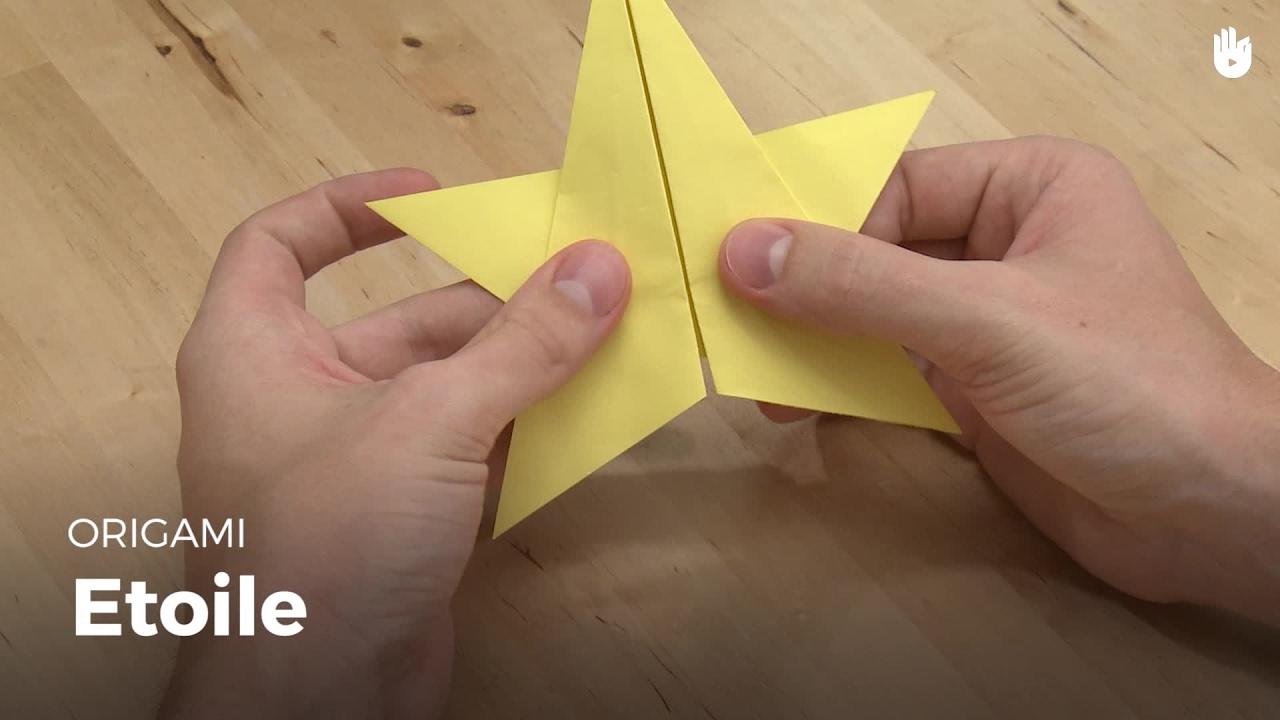 Faire Une étoile En Papier Origami