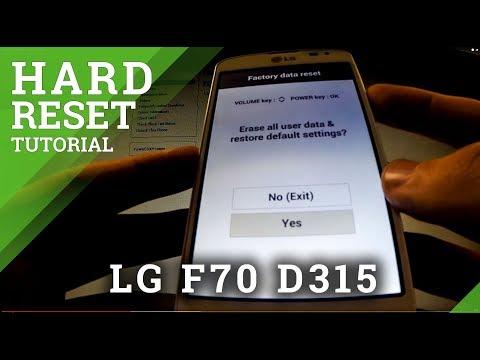 Hard Reset LG F70 D315 - Master Reset Tutorial