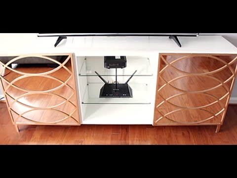 Easy Steps To Glam Up Your TV Stand With Mirrors - Huge Difference!!!