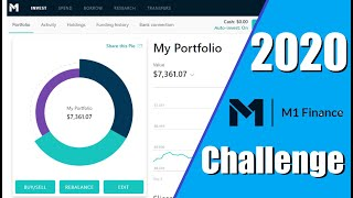 2020 M1 Finance Challenge | Goal of $12,500-$20,000 | Dividends, Dividend Investing, Passive Income