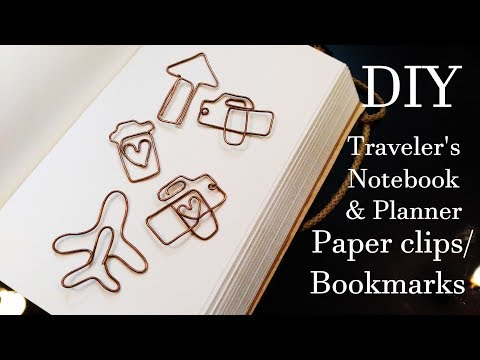 DIY Traveler's Notebook & Planner Paper Clips / Bookmarks