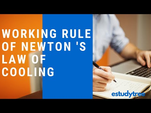 Working Rule Of Newton 's Law Of Cooling