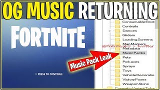 "*NEW* Fortnite: LEAKED ""OG"" MUSIC RETURNING SOON! 