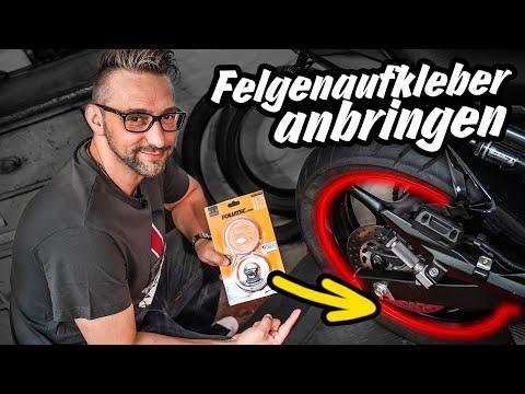Video: Felgenaufkleber anbringen am Motorrad