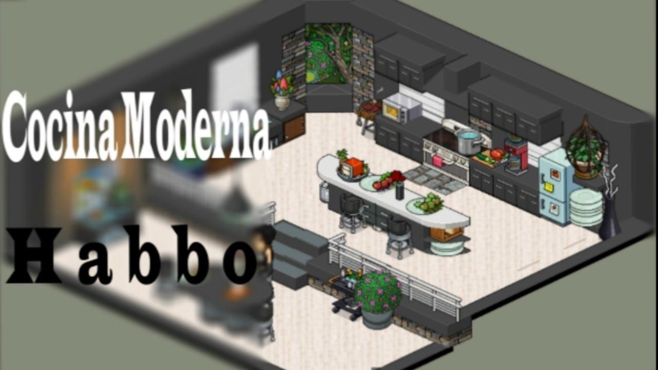 Cocina moderna habbo tutorial youtube for Casa moderna habbo