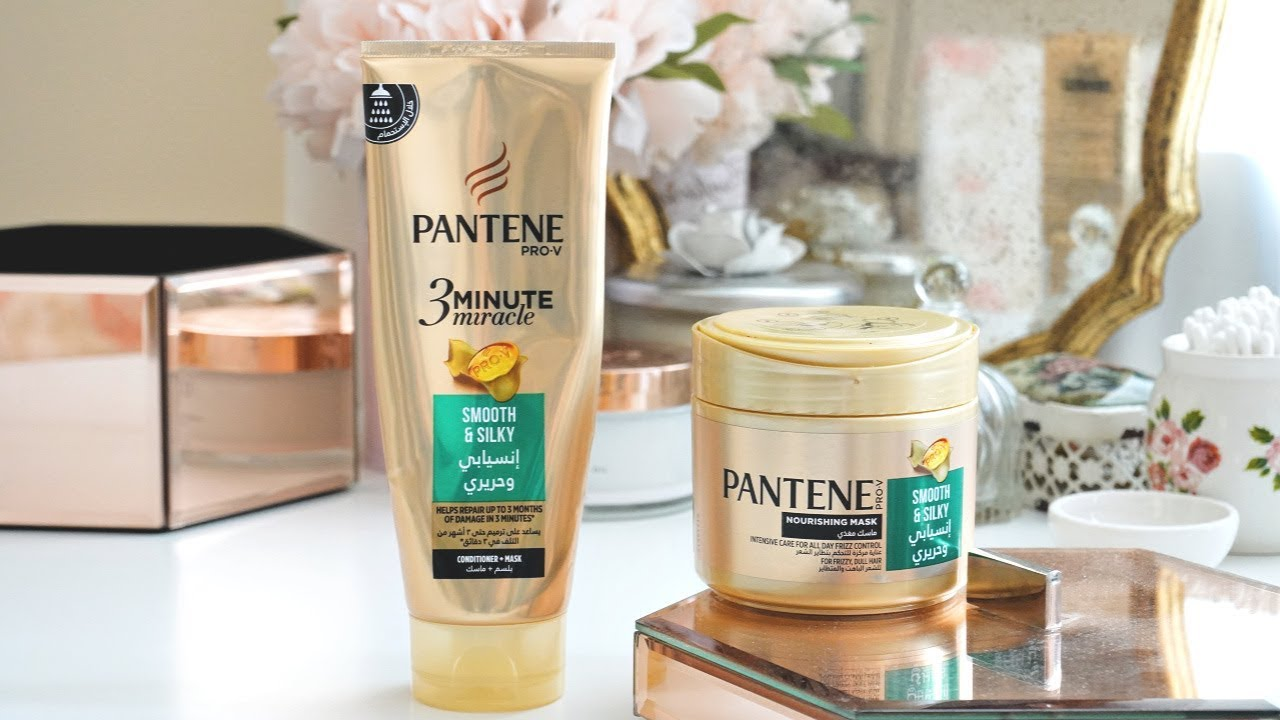 Pantene 3 Minute Miracle Smooth Silky Conditioner Mask Intensive Care Nourishing Mask Review Youtube