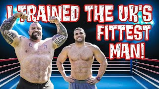 Strongman trains UK's fittest man | Ft Zack George