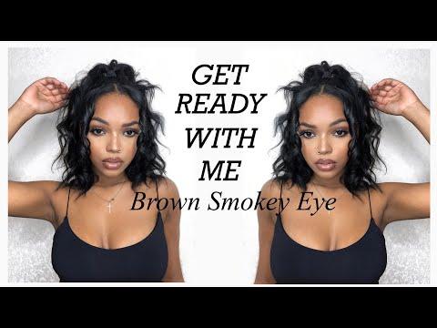 GET READY WITH ME | BROWN SMOKEY EYE | NAOMI NYARA thumbnail