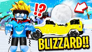 We SURVIVED the WORST BLIZZARD in Roblox BROOKHAVEN RP!!