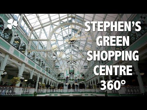 Uma volta em 360 graus pelo shopping St. Stephen's Green