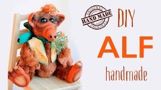 Мини- обзор на игрушку ручной работы Альф из сериала 80-х