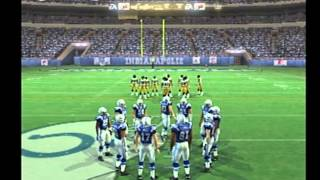 madden 07 ps2 gameplay colts vs steelers playoffs