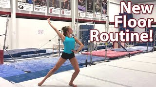 New Floor Exercise Routine! | Whitney Bjerken