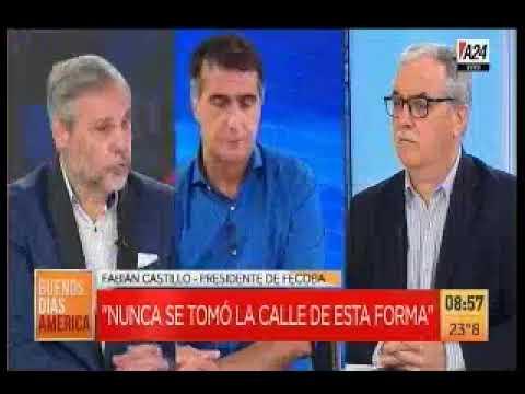 A24 - Entrevista a Fabián Castillo presidente de FECOBA por venta ilegal en Flores.
