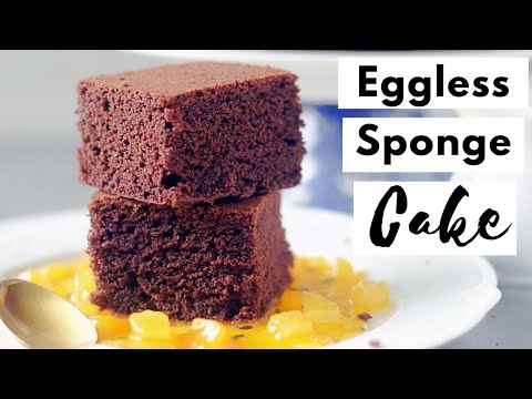The Best Eggless Chocolate Sponge Cake | Chocolate Hot Milk Cake