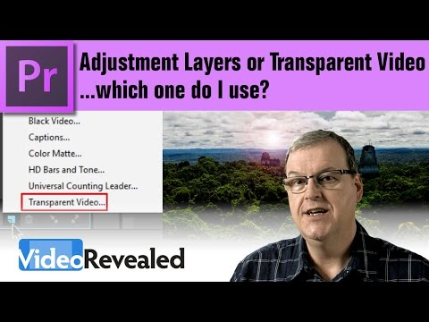 Adjustment Layer or Transparent Video - which one do I use?
