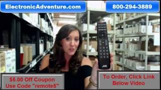 JVC 0980-0306-0121 Coupon $5 Off Remote Control LED HDTV (098003060121) ElectronicAdventure.com