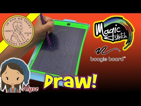 Magic Sketch Boogie Board - Puzzles, Games, Art & School All In One!