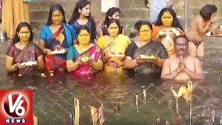 Devotees Rush At Srisailam Mallikarjuna Temple Due To Dussehra Holidays | V6 News