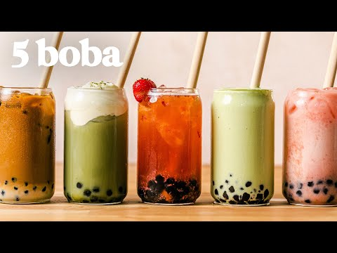 BOBA 5 Ways! Favorite BOBA / BUBBLE TEA Recipes You Gotta Try