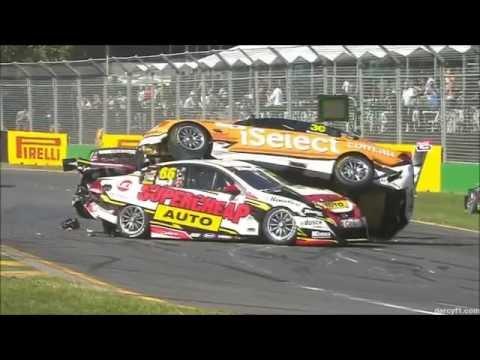 Motorsports pile up crash compilation