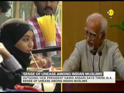 Hamid Ansari says, 'Muslims in India are uneasy and insecure'