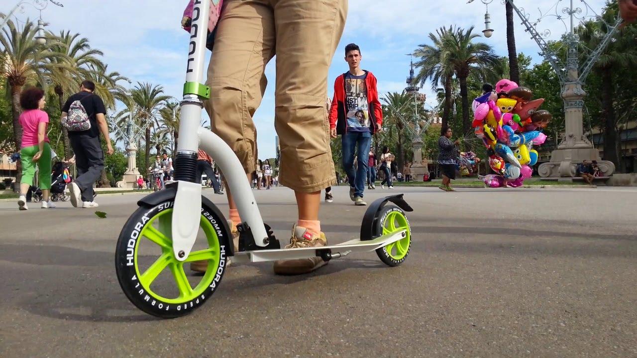 hudora bold wheel cushion 230 kick scooter youtube. Black Bedroom Furniture Sets. Home Design Ideas