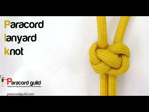 How To Tie A Lanyard Knot Youtube