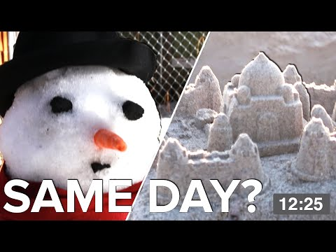 We Built A Snowman And A Sandcastle In The Same Day