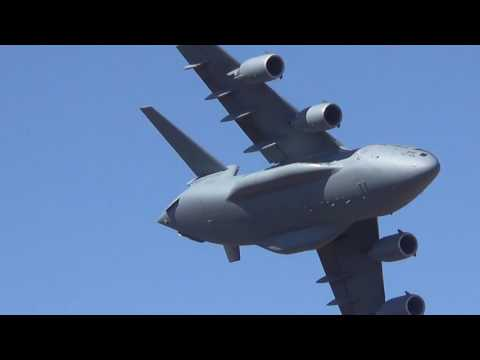 Here's an Air Force C-17 Threading a Canyon