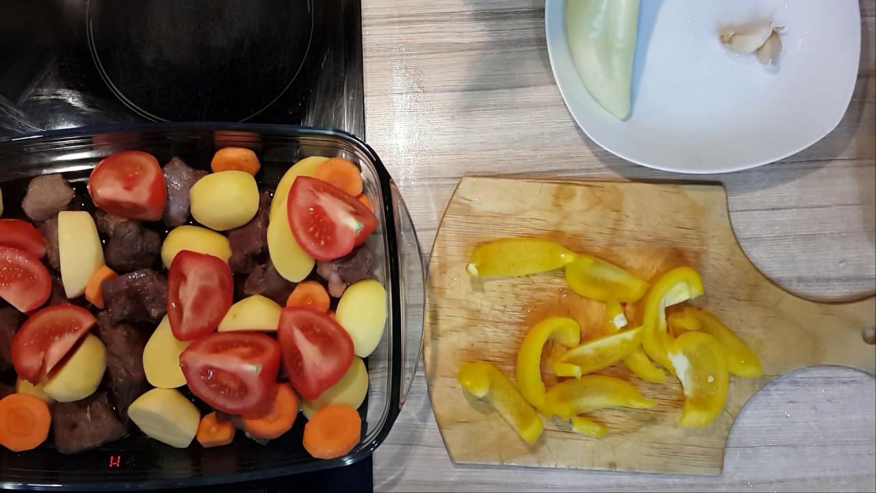 Мясо с Овощами в Духовке   Картошка с Мясом и Овощами в Духовке