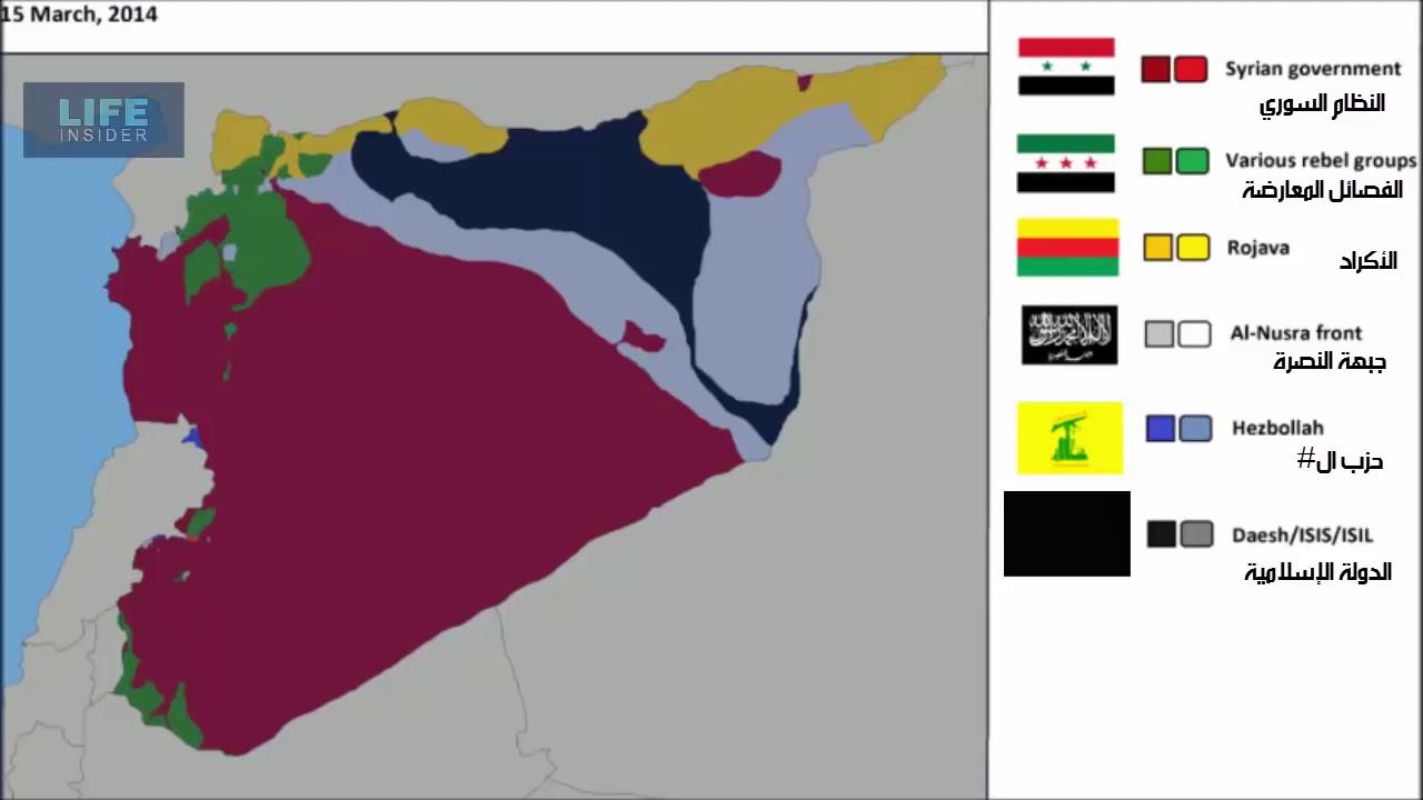 2011'den 2018'e Suriye haritası