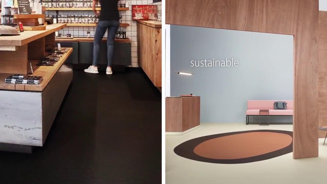 Marmoleum cocoa linoleum solid collection forbo flooring systems
