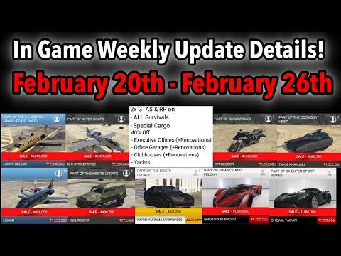 GTA 5 ONLINE WEEKLY UPDATE DETAILS! DOUBLE MONEY! NEW CAR, DISCOUNTS, & MORE!