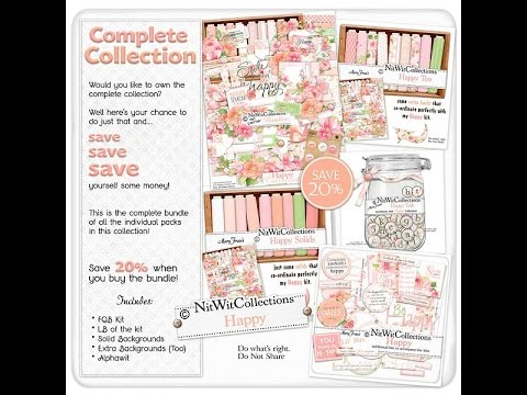 A digital scrapbooking and card making kit that will make you Happy!