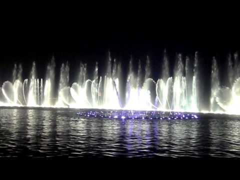 Hangzhou china the beautiful water show.