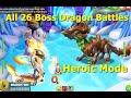 All 26 Boss Dragon Battles with Oyar-Dragon Mania Legends   Heroic Mode    Dml
