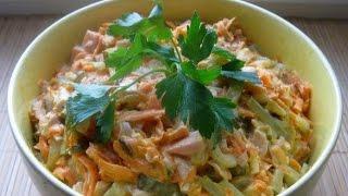видео Салат Обжорка классический с мясом